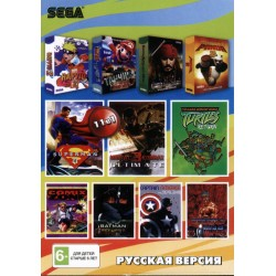 Картридж SEGA сборник 11 in 1 [A-11001] (Mortal Kombat 3 Ultimate/Batman/Comic Zone...)