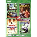 Картридж SEGA 4 в 1 [KC-438] (Turtles/Bare Knuckle/Tecmo/World Cup Soccer)