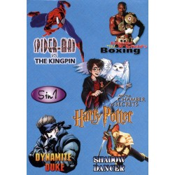 Картридж SEGA 5 в 1 [SK-5005] (Spiderman/Boxing/Harry Potter/Dynamite Duke...)