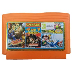 Картридж Dendy 4 в 1 [YH-4248] (Street Fighter 12/Kick Master/Monster/Bubble...)