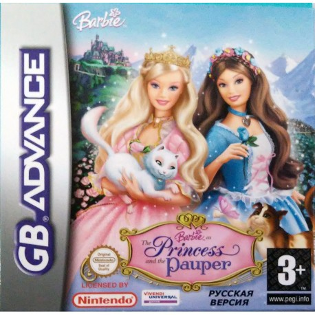 Картридж GBA Barbie the Princess and Pauper (русская версия)