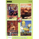 Картридж SEGA 4 в 1 [KC-453] (Double Dragon 2/Wrestle War/Simpsons/Battleship)