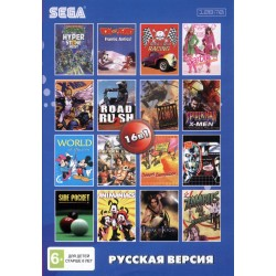 Картридж SEGA 16 в 1 [AC-16001] (Turtles/Rock'n'Roll Racing/Tom & Jerry...)