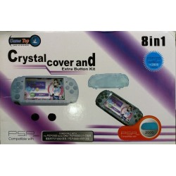 Набор для PSP-2000 8 в 1 Crystal Cover and Extra Button Kit  (GT-PSP2-140)