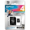 Карта памяти microSD 4GB Silicon Power Class 4 (с адаптером)