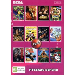 Картридж SEGA 12 в 1 [AA-12001] (Animaniacs/Batman Forever/Battletoads/Contra...)