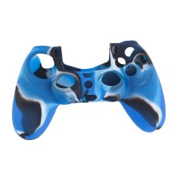 Чехол защитный PS 4 Controller Silicon Case Camouflage Blue