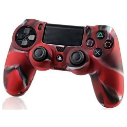 Чехол защитный PS 4 Controller Silicon Case Camouflage Red