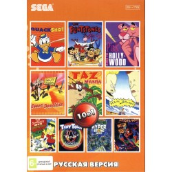 Картридж SEGA 10 в 1 [AB-10001] (Turtles/Tiny Toon/Spider/Tazmania...)