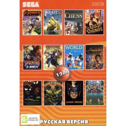 Картридж SEGA 12 в 1 [AA-12002] (Aladdin/Chess/Comixe Zone...)