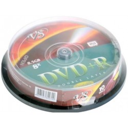 Диск DVD+R DL VS 8.5Gb 8x, printable (10 шт. в банке)