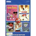 Картридж SEGA 5 в 1 [SK-5002] (FIFA2003/Turtles/Tiny Toon/World Cup 92/Alex Kidd)