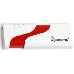 USB 2.0 накопитель 8GB Smartbuy Hatch White