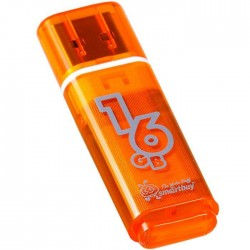 USB 2.0 накопитель 16GB Smartbuy Glossy series Orange