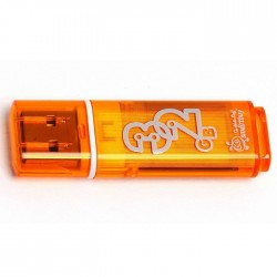 USB 2.0 накопитель 32GB Smartbuy  Glossy Orange