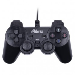 Джойстик PC USB/PS2/PS3 RITMIX GP-010PS, чёрный