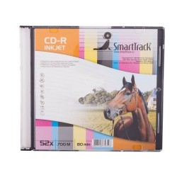 Диск CD-R Smart Trek 700mb 52x Printable Slim