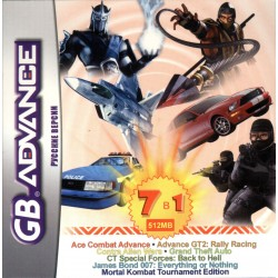 Картридж GBA 7 в 1 [BS-71002] (Ace Combat/Contra/GTA/Mortal Kombat Tournament...) (русская версия)
