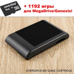 Флеш Flash картридж EverDrive MD для Sega Mega Drive + 1192 игры