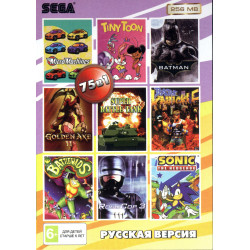 Картридж SEGA 75 в 1 [RU-25601] (Battletoads/Bare Knuckle/Golden Axe 2...)
