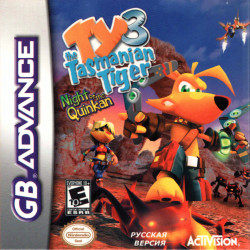 Картридж GBA Ty the Tasmanian Tiger 3:Night of the Quink  (русская версия)
