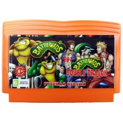Картридж 8-бит 2 в 1 Battletoads + Battletoads & Double Dragon (русская версия)