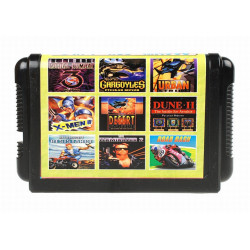Картридж SEGA 9 в 1 [MA-908] (MK3 Ultimate/Urban Strike/X-Man2/Dune/Road Rash...) без коробки