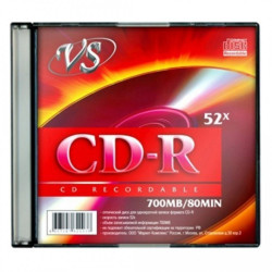 Диск CD-R VS 700mb 52x Slim