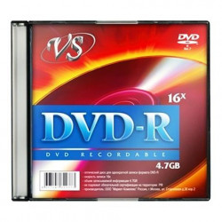 Диск DVD-R VS 4.7Gb 16x Slim