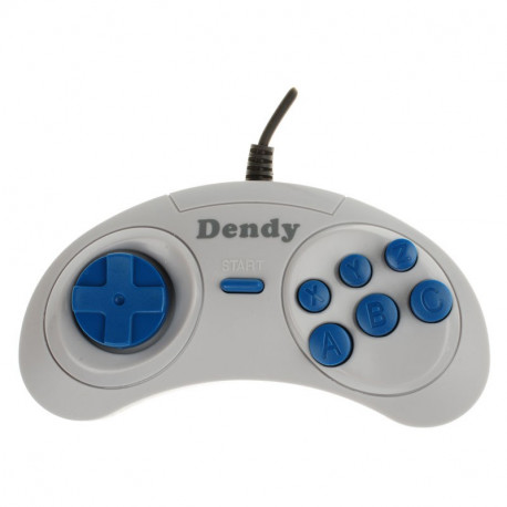 Джойстик Dendy Magistr (форма Sega) узкий разъем (9 pin), серый