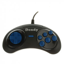 Джойстик Dendy Magistr (форма Sega) узкий разъем (9 pin), чёрный