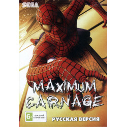 Картридж SEGA  Spiderman & Venom: Maximum Carnage (на русском)