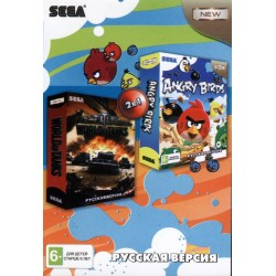 Картридж SEGA сборник 2 in 1 [A-201] (Angry Birds/World of Tanks)
