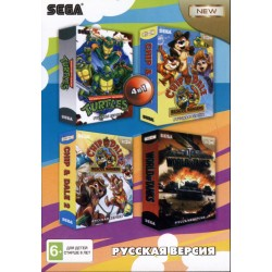Картридж SEGA сборник 4 in 1 [A-401]  (Turtles/Chip&Dale/World of Tanks)