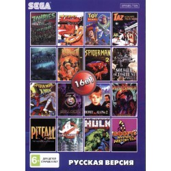 Картридж SEGA 16 в 1 [AA-160001] (Bare Knuckle 3/Mortal Kombat 2/3/Zombies)